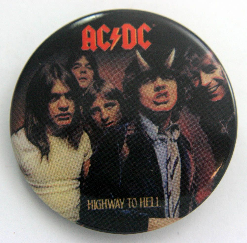 AC DC - Highway to Hell Large Button Badge