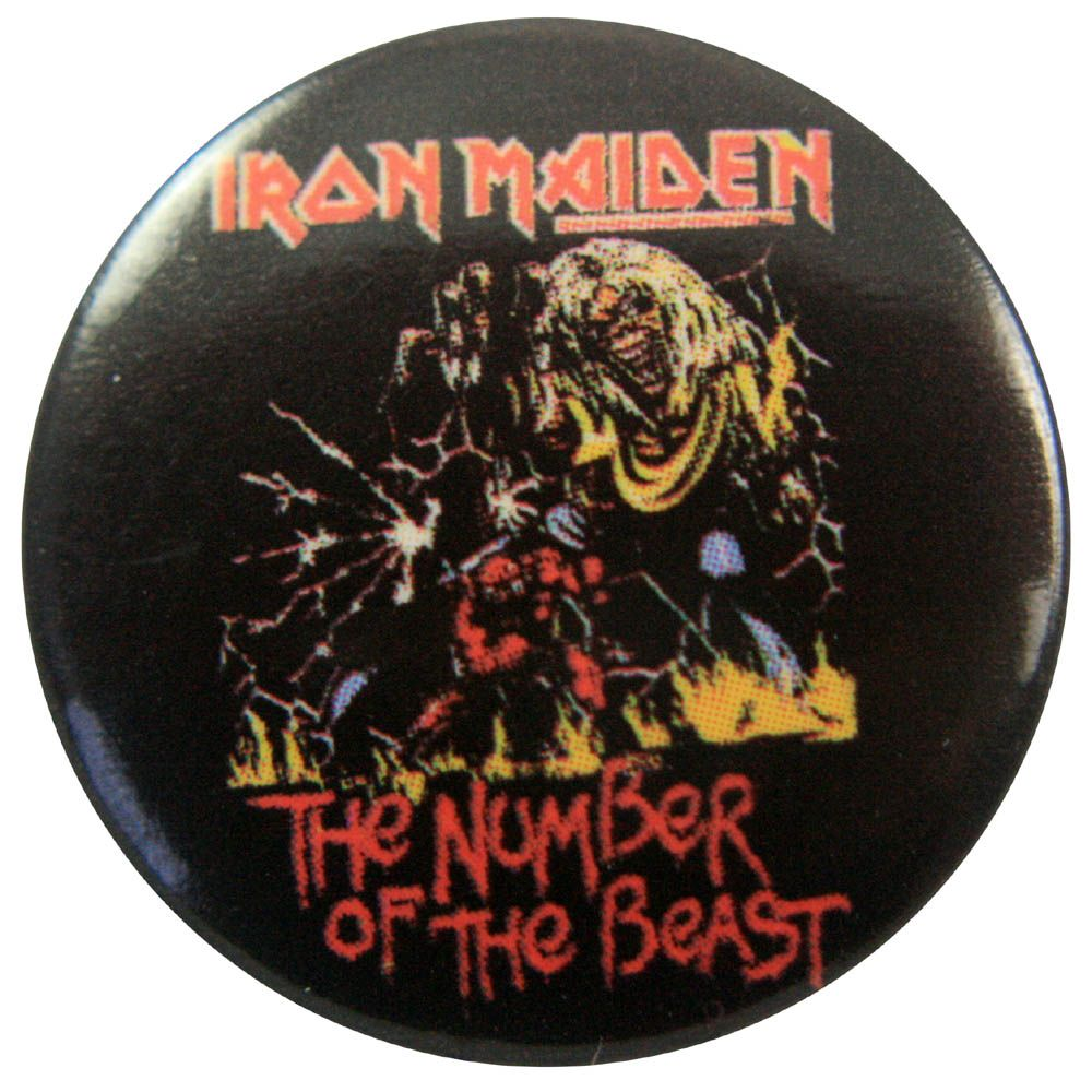 0d8bc357 Iron Maiden - Number of the Beast Button Badge