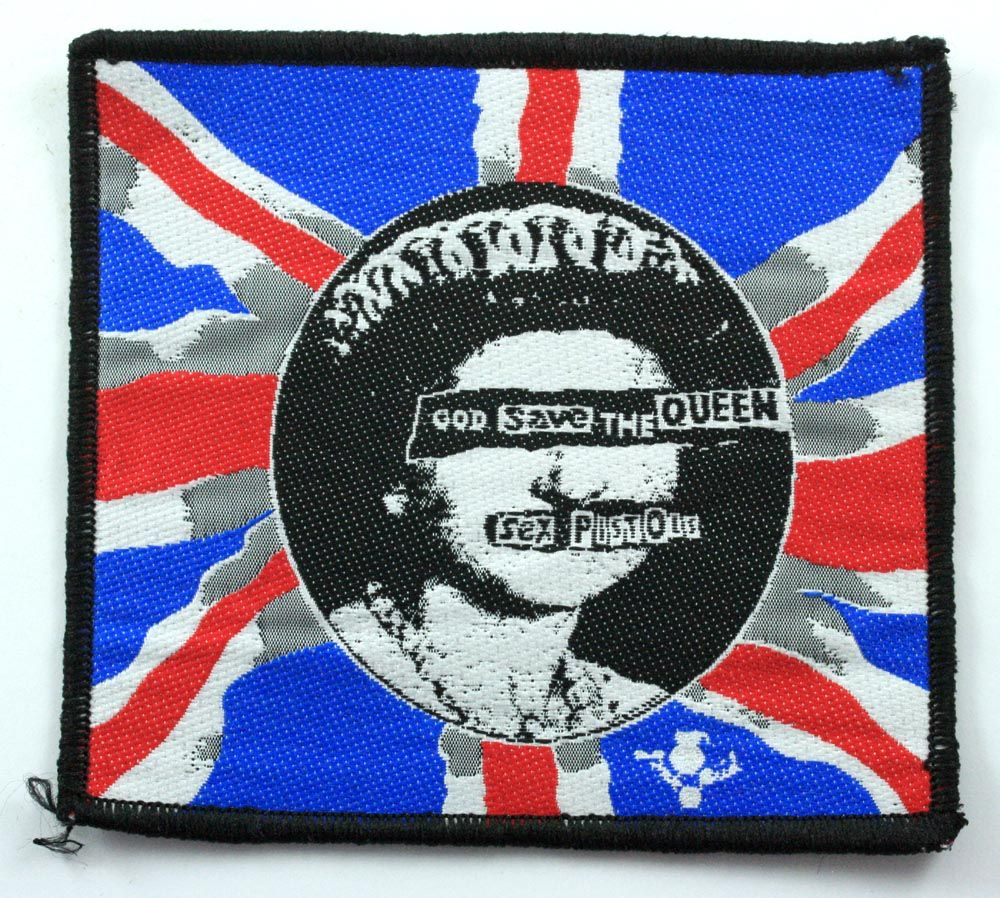 b6025bba0a Sex Pistols - God Save the Queen Woven Patch