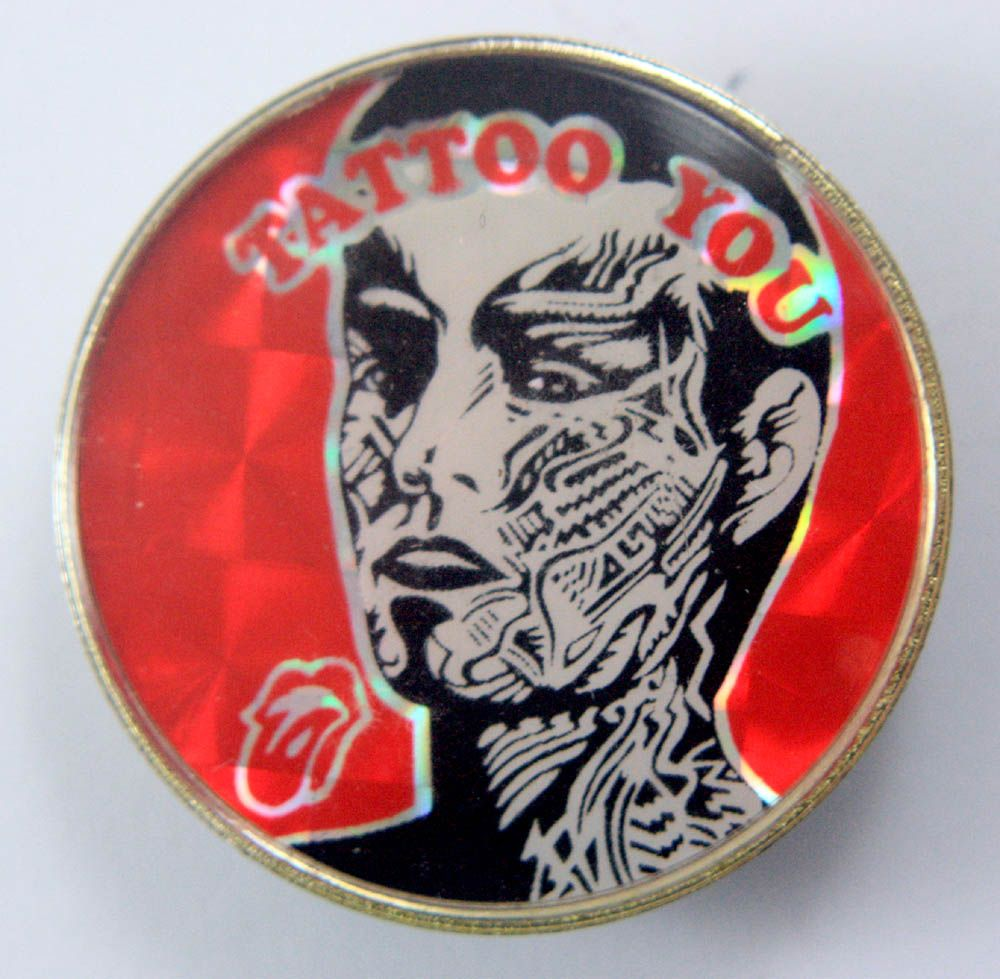 The Rolling Stones Tattoo You Prismatic Crystal Badge